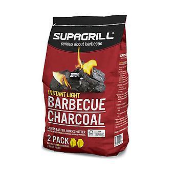 Supagrill Instant light lumpwood charcoal 1.7KG (2x 850G)