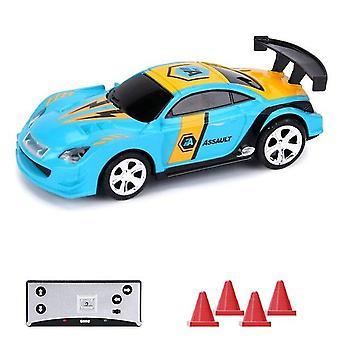 2.4G 1/58 mini rc kauko-ohjattava kilpa-auto kevyt 2-tila sovellus ohjaus ammentava moninpeli yhdessä ajoneuvo cola voi laatikko