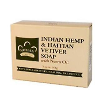 Nubian Heritage Bar Soap, Indian Hemp & Haitian Vetiver 5 Oz
