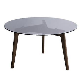 Luova peili pyöreä pöytä karkaistu lasi kahvi sohva sivupää massiivipuu