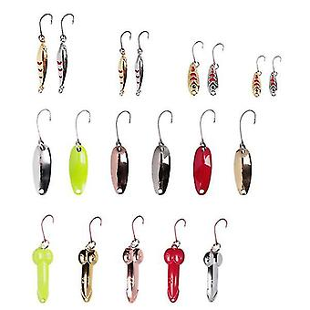 ZANLURE 20 Pcs Fishing Lure 1.5-4cm Artificial Bait Portable Camping Fishing Bait Hooks With Storage
