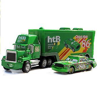 Autók Cargo Racing Truck Chick Hick 86 Htb Racing Car Diecast ötvözet autók modell játék gyermek ajándék