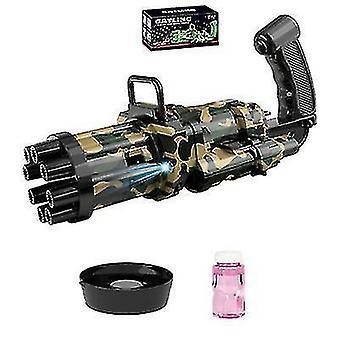 Automatische Gatling Bubble Gun Sommer Seifenblasenmaschine Kinder Outdoor Spielzeug (Schwarz)