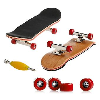 Mini Fingerboard Professionele Vingers Skateboard Maple Wood Diy Assembly Skate