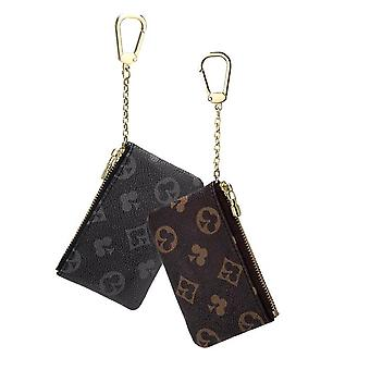 Women Leather Coin Purse Small Zippered Change Pouch Wallet