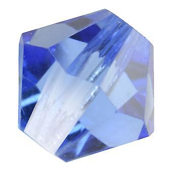 Preciosa Czech Crystal, Bicone Bead 8mm, 12 Pieces, Light Sapphire