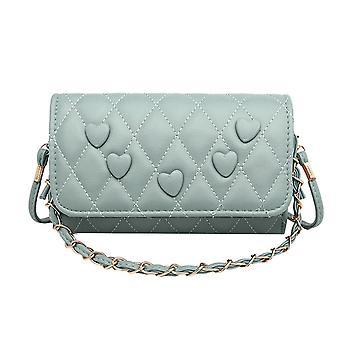 Women PU Love Shoulder Messenger Bags Popular Simple Female Daily Bag Fashion Lattice Pattern