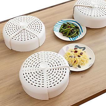 2 Pcs Food Plate Cover Foldable Anti-fly Vegetable Dish Case Food Protector