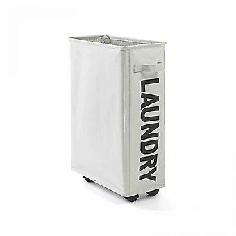 Foldable Dirty Laundry Basket With Wheels, Portable, Dirty Clothes Storage Basket, Large Capacity Laundry Bag
