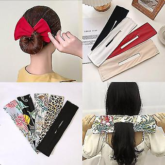 Headband Deft Bun Lazy Twister Hair Bands Spinning Women Bow Headband Print Hairpin Knotted Wire