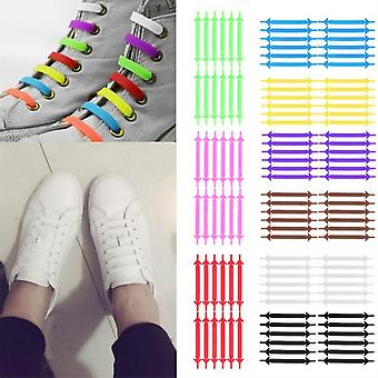Innovative Unisex Running No Tie Shoelaces Elastic Silicone Shoe Lace For Shoes