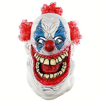 Halloween Scary Red Curly Clown Maske