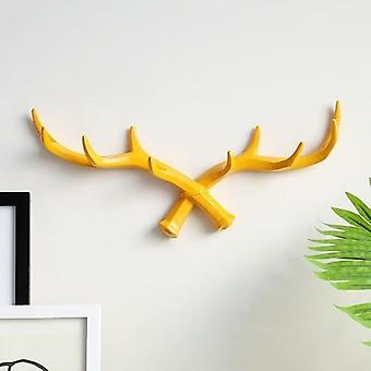Resin Deer Horn Nordic Hook Hanger Wall Home Wall Decorative Clothes
