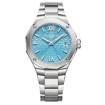 Baume & Mercier M0a10612 Riviera Blue And Silver Stainless Steel Ladies Watch