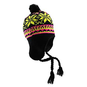 Bright Neon Fleeceforet Strik vinter Pilot Hat