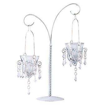 Gallery of Light Crystal Drops Double Hanging Candle Holder, Pack of 1