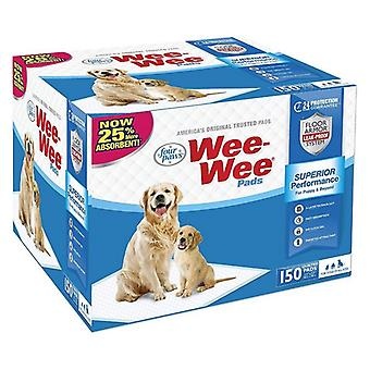 """Four Paws Wee Wee Pads Original - 150 Pack - Box (22"""" Long x 23"""" Wide)"""