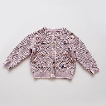 Children's Sweaters Hand-knitted Cardigan Sweater Winter 2020 Toddler Girl Sweater  Baby Girl Fall Clothes