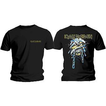 Iron Maiden - Powerslave Head &logo Herre Stor T-skjorte - Svart