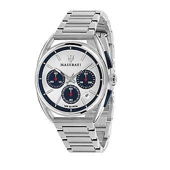 Maserati Trimarano Chronograph Hopea/Sininen Valinta Miesten kello R8873632001