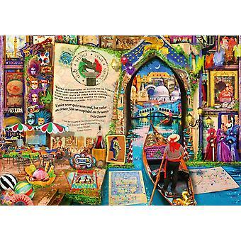 Bluebird Life is an Open Book Venice Jigsaw Puzzle (1000 Pieces)