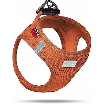 Pet leashes dog harness  pet dog vest  adjustable dog harness  soft air mesh vest for small dogs orange-2xs code