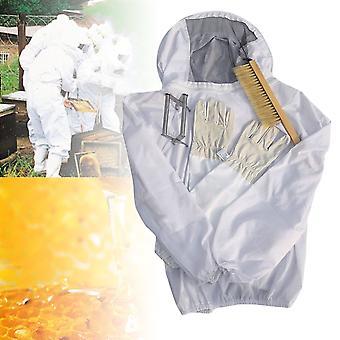 4buc /set apicultură Costum Tool Set Apicultura Jacheta + perie + lifter + mănuși Set