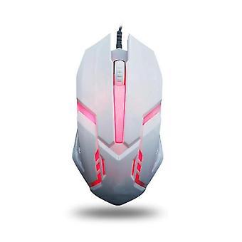 1600 Dpi fargerik bakgrunnsbelyst stille mus usb kablet gaming mus kontorspill lysende mus for pc bærbar PC bærbar PC