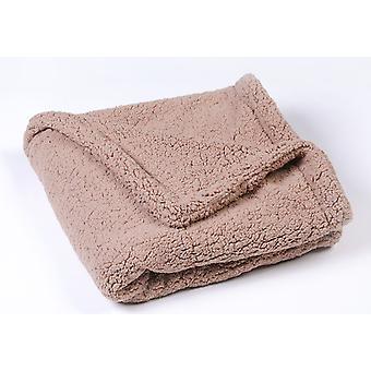 Fleecová psí deka, omyvatelná měkká přikrývka pro domácí mazlíčky, kočičí deka, polštářek pro štěňata, postel pro domácí mazlíčky (tmavě šedá, 80 * 60 cm)