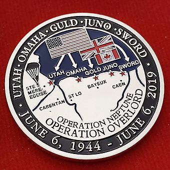 נחת נורמנדי אמריקאי 75 שנה תג מלאכה מדליית מטבע זהב מטבע מטבע מטבע