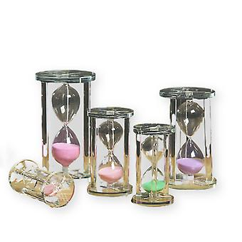 5pcs Crystal Hourglass Timer Personality Glass Quicksand Decoration Birthday Gift