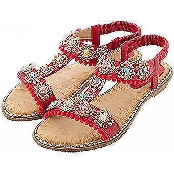 kvinners strand uformell mote sommer lette flate sandaler
