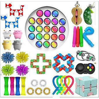 Sensory Decompression Toy Set Puzzle Diy Combination Toys -24