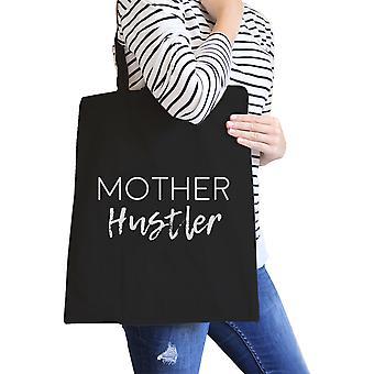 Mor Hustler sort lærred taske sjove mors dag gave til kone