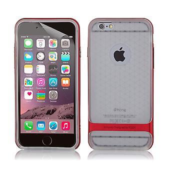 Bulletproof di roccia chiara gel custodia + stilo per Apple iPhone 6 6S - rosso