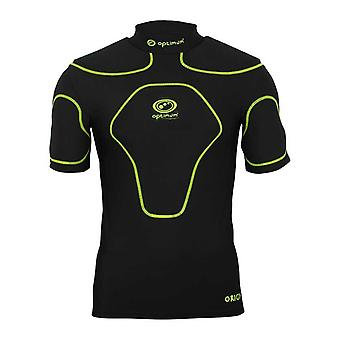 OPTIMAL d'origine rugby corps protection haut Snr [noir/fluoro]