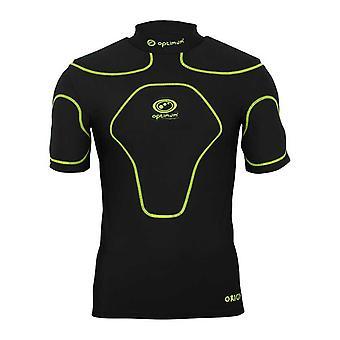 OPTIMALE oorsprong rugby lichaam bescherming boven Snr [zwart/fluoroscopie]
