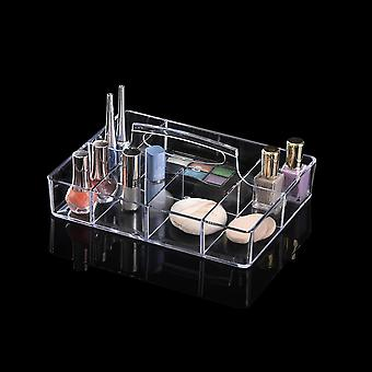 OnDisplay Deluxe Acrylic Makeup and Jewelry Organization Tray - Perfect for Vanity, Bathroom Counter, or Dresser