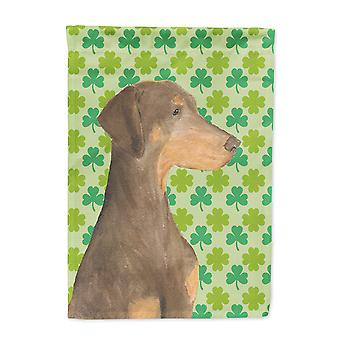 Carolines Schätze SS4410-FLAG-PARENT Dobermann St. Patricks Tag Shamrock Port