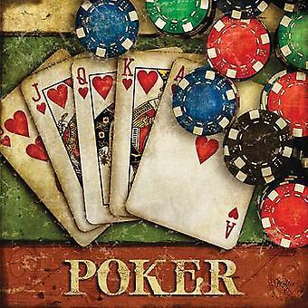Poker affisch Skriv av Mollie B (18 x 18)