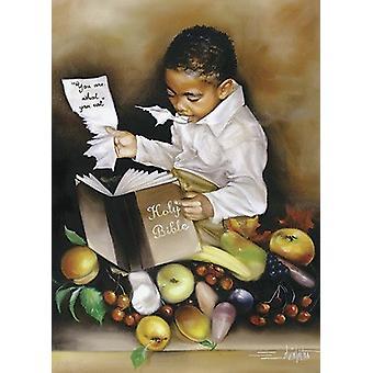 Du bist was du isst (seiner) Poster Print von Edwin Lester (16 x 22)