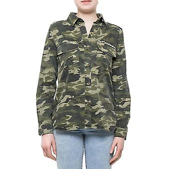 Military Style Loose Camouflage Shirt