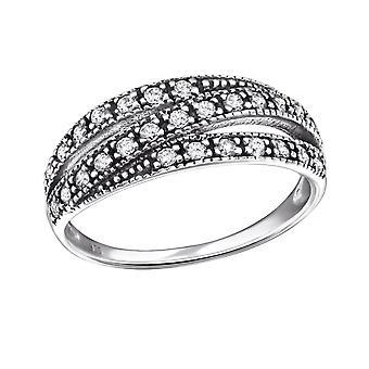 Eternity - 925 Sterling Silver Cubic Zirconia Rings - W31586X