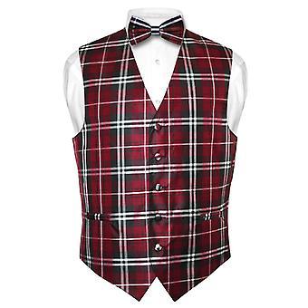 Muži ' s Plaid konstrukční oblečení vesta & Bowtie motýlka sada