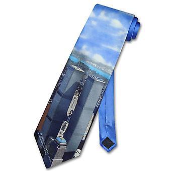 WORLD TRADE Center 100% zijde stropdas TWIN Towers mannen nek Tie
