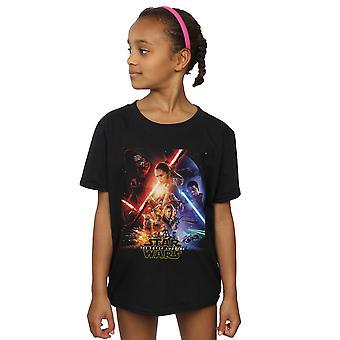 Star Wars Girls Force Awakens Poster T-Shirt