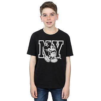 Disney Boys Mickey Mouse NY Kicking T-Shirt