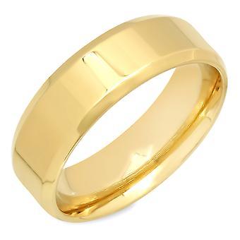 خاتم الذهب من الفولاذ المقاوم للصدأ مطلي السيدات ك 18