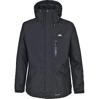 Traspaso Mens Corvo lluvia transpirable impermeable chaqueta de abrigo
