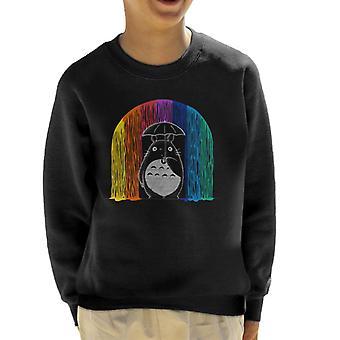 قميص من النوع الثقيل طفلي Totoro الجار الملونة